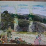 Ruines paleizen koning Achab en Omri in Israel